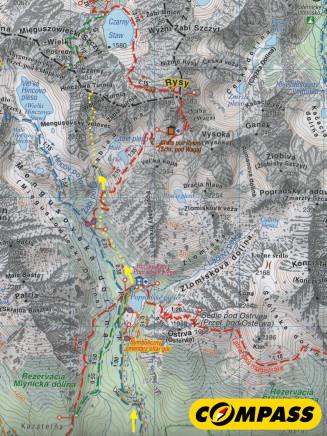 Wołowy Grzbiet mapa