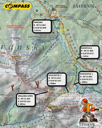 Spalona Kopa mapa