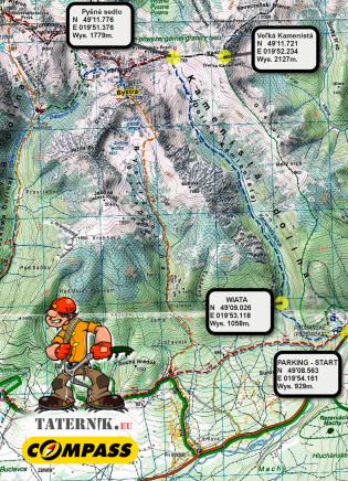 Kamienista dolina mapa
